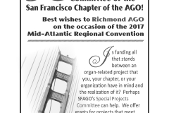3 AGO San Francisco ad - quarter page